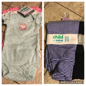 Bundle of bodysuits and pants